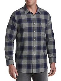 Original Penguin® Brushed Flannel Plaid Sport Shirt