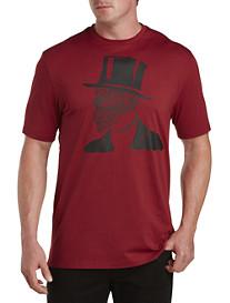 Robert Graham Top Hat Skull Graphic Tee