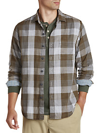 Tommy Bahama® Double-Weave Plaid Sport Shirt