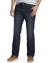 Tommy Bahama® Barbados Authentic Straight Fit Stretch Jeans – Dark Indigo Wash