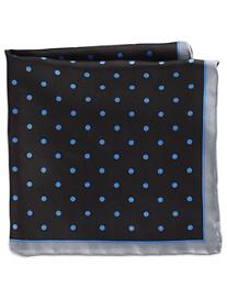 Rochester Medium Dot Silk Pocket Square