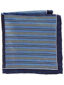 Rochester Stripe Geo Multi Silk Pocket Square