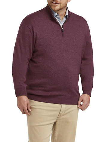 Rochester Quarter-Zip Cotton/Cashmere Sweater | Sweaters & Vests