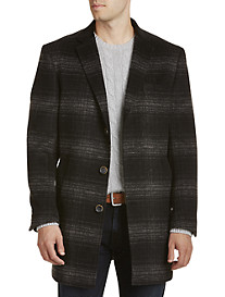 Tallia Orange Plaid Overcoat