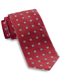 Keys & Lockwood Spaced Neat Silk Tie