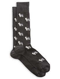 Polo Ralph Lauren® 2-pk Sheep Dog/Solid Dress Socks