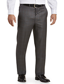 Ballin Comfort-EZE Check Flat-Front Dress Pants