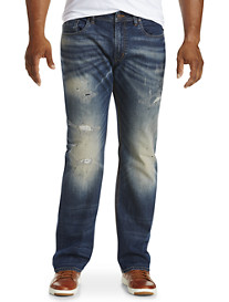 Buffalo David Bitton® Destructed Stretch Denim Jeans - Medium Wash