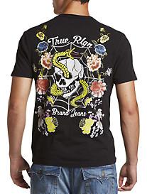 True Religion® Snake Skull Tee