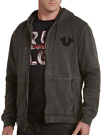 True Religion® Moto Full-Zip Hoodie