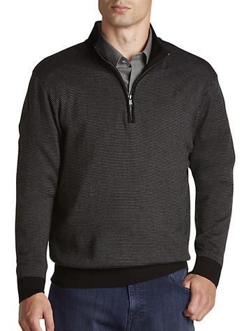 Cutter & Buck® Collin Half-Zip Stripe Mockneck Sweater | Sweaters & Vests