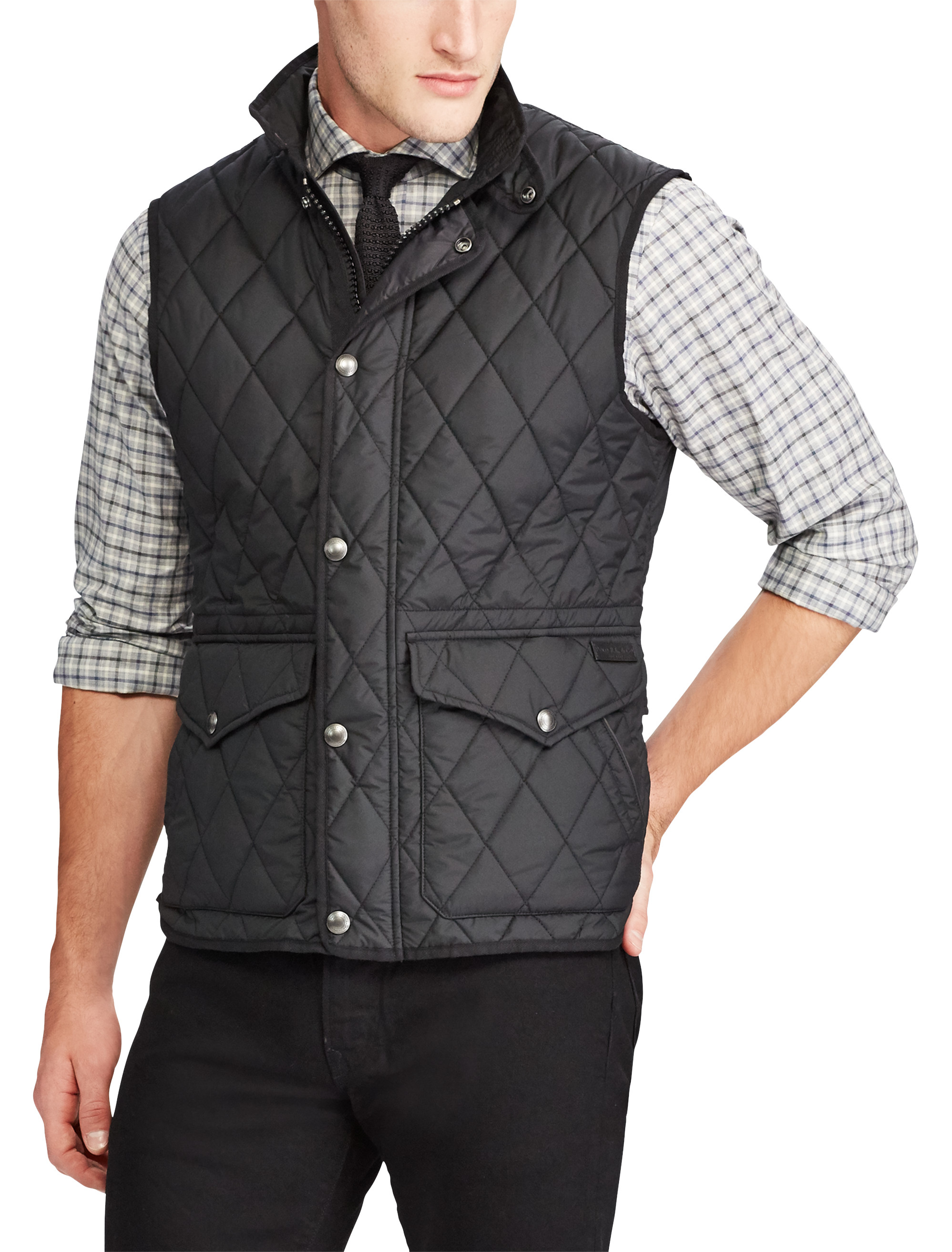 mens gray ralph biker pin grey jacket lauren product speed quilted quilt polo