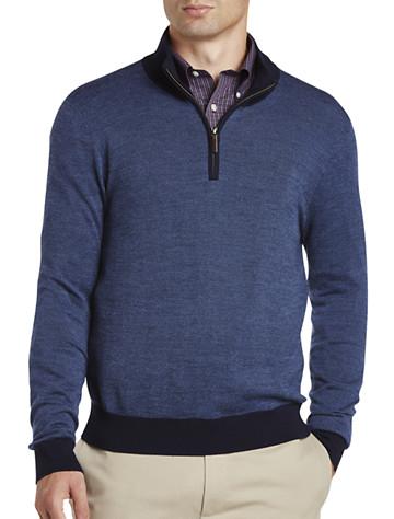 Brooks Brothers® Birdseye Wool Half-Zip Pullover | Sweaters & Vests