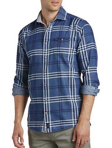 johnnie-O® Breckenridge Indigo Plaid Sport Shirt