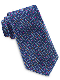 Robert Talbott Best of Class Rectangular Geo Neat Silk Tie