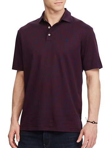 Polo Ralph Lauren® Classic Fit Stripe Soft-Touch Polo (navy wine)
