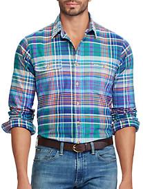 Polo Ralph Lauren® Classic Fit Plaid Oxford Work Shirt