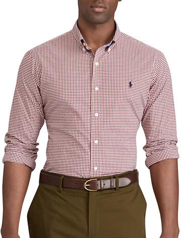 Polo Ralph Lauren® Classic Fit Gingham Stretch Poplin Sport Shirt