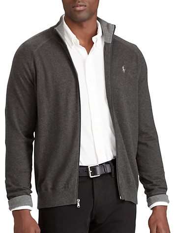 Polo Ralph Lauren® Cotton Full-Zip Sweater | Sweaters & Vests