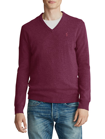 Polo Ralph Lauren® Merino Wool V-Neck Sweater