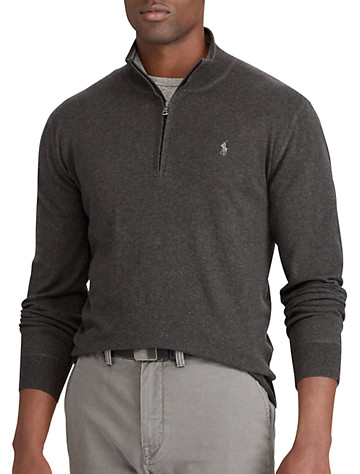 Polo Ralph Lauren® Cotton ½-Zip Sweater | Sweaters & Vests