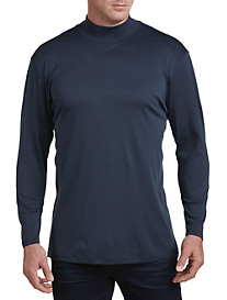 Robert Barakett Georgia Jersey Mock Turtleneck