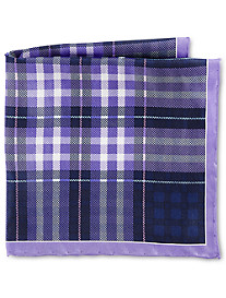 Rochester Medium Plaid Silk Pocket Square