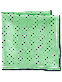 Rochester Small Dot Silk Pocket Square