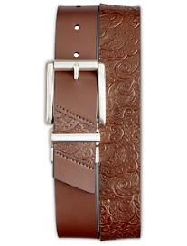 Robert Graham® Potter Reversible Embossed Leather Belt