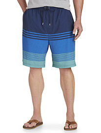 Rochester Colorblock Stripe Swim Trunks