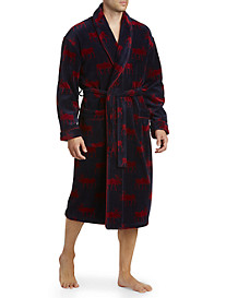 Vintage by Majestic® Happy Camper Moose Terry Velour Robe