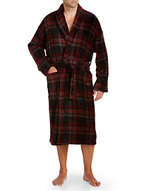 Majestic International® Boulevard Plush Fleece Plaid Robe