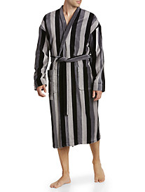 Majestic International® Stripe Velour Kimono Robe