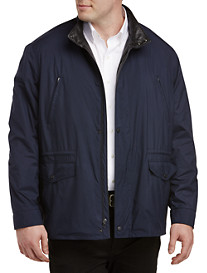 Remy Lightweight Microfiber Jacket with Leather Trim