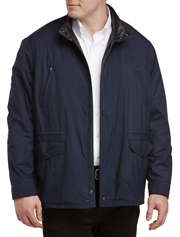 Remy Lightweight Microfiber Jacket with Leather Trim - $850.00