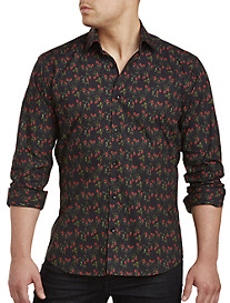Jared Lang Strawberry Print Sport Shirt