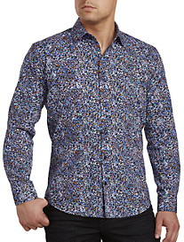 Jared Lang Multi Geometric Print Sport Shirt