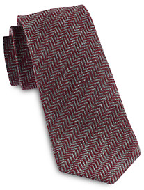 Jack Victor Textured Chevron Silk Tie