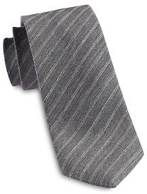Jack Victor Heathered Thin Stripe Silk Tie
