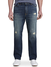 Lucky Brand® Rip & Repair Lompoc Medium Wash Jeans – Athletic Fit