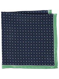 Rochester Two-Tone Dot Silk Pocket Square