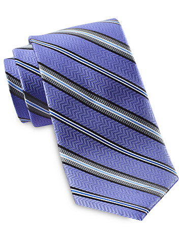 Rochester Variable Stripe Silk Tie