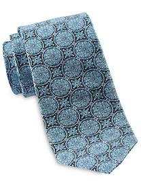 Rochester Large Circle Medallion Silk Tie