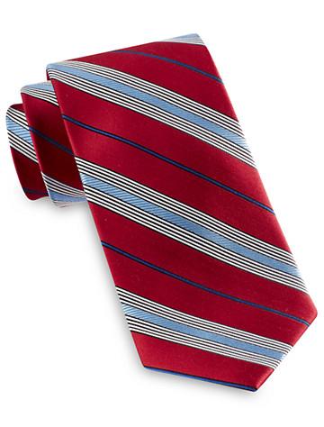 Rochester Textured Stripe Silk Tie