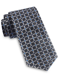 Rochester Medium Grid Silk Tie