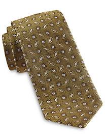 Rochester Designed in Italy Small Oval Medallion Silk Tie