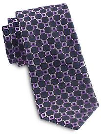 Rochester Designed in Italy Small Grid Silk Tie