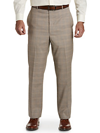 Ballin® Mini Windowpane Comfort-EZE Flat-Front Dress Pants
