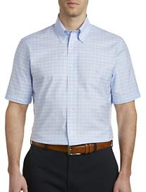 Brooks Brothers Non-Iron Windowpane Plaid Oxford Sport Shirt