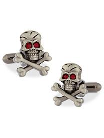 Link Up Skull and Crossbones Cuff Links